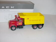 1/34 First Gear Diecast BARD Concrete Mack R-Model Dump Truck W/Box!