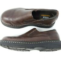 GBX Jacob Men's 9M Brown Leather Slip On Casual Shoes Plain Toe Loafers