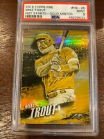 2018 Topps Fire Hot Starts HS-25 Mike Trout Gold Minted [PSA 9]