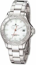 Mens Charles Hubert Stainless Steel Off White Dial Automatic Watch
