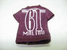 Ken doll Malibu maroon short shirt