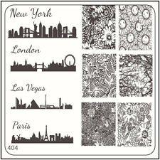 MoYou Image Plate 404 Vintage Style, London, Paris Art Stamping Template Stencil