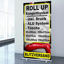 ROLL UP DISPLAY inkl. DRUCK 85x200cm 100x200cm 150x200 inkl Tasche RollUp Banner