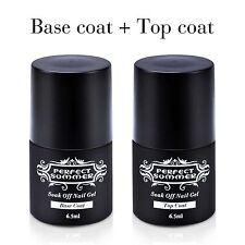 2pcs Soak off Gel Nail Polish Sets Clear Primmer Base & Top Coat  Acrylic UV Gel