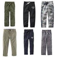 Oshkosh Carter's Boy's Khakis Camo Cargo Fleece Lined Pants Sweats Sizes 4 5