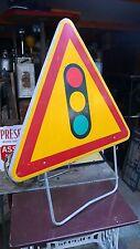 Objet de Métier Vintage Panneau Signalisation Routière Feu Tricolore Ancien 1980