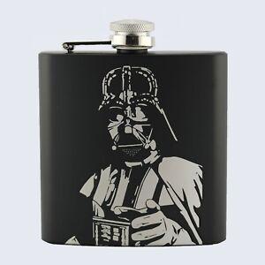 DARTH VADER, LORD VADER, Dark Side, Star Wars Inspired, 6oz Drinks Hip Flask