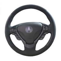 Top Leather Steering Wheel Hand-stitch on Wrap Cover For Acura TL ILX RDX ZDX