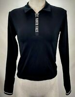 The North Face Womens Base Layer Top Size XS Black Long Sleeve Half Zip Active