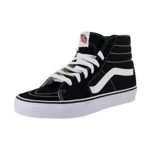 "Vans ""Sk8-Hi"" Sneakers (Black/White) Unisex Canvas Suede Skate High-Top Shoes"