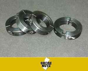 "(4) 1-1/2"" DOUBLE SPLIT STEEL NEW CLAMPING SHAFT COLLAR BLACK OXIDE  SC150D"