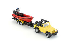 Siku 1658 - Jeep Wrangler Car with Boat Trailer Diecast - Scale  1:55