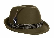 Oktoberfest Alpine Fedora Hat - Green Wool - Nice, High Quality, Size XXL