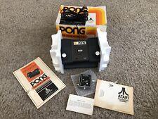 WORKING - Atari Pong C-100 Game Console w/ Original Box + Papers - FREESHIP