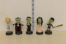 The Munsters Figure Set Little Big Head Herman Lily Eddie Gpa Marilyn LOOSE