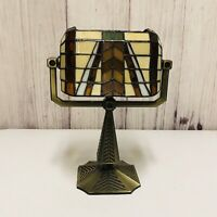 PartyLite Stained Glass Light Votive Candle Tea Light Holder Lamp