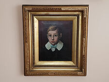19th Century Gilt Fraimed Oil Of Boy English School