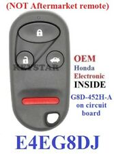 OEM HONDA Chip + New KEYLESS REMOTE FOB CASE for E4EG8DJ G8D-452H-A Free Program