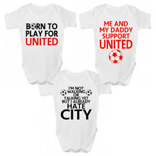 Manchester UTD Football Baby Grow - Manchester Premier League Babies Clothing