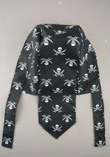 Skull and Crossbones Black Cap / Bandana / Pirate Hat - UK Seller