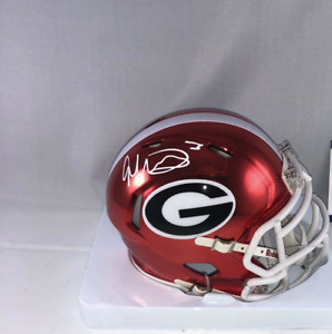 Todd Gurley Signed Georgia Bulldogs Chrome Mini Helmet Beckett BAS Witnessed