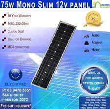75 Watt 12v Mono Solar Panel 75W Unique Narrow Design Panel  Freight Inclusive!*