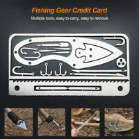 Fishing Hook Card Kit Hunting Camping Survival Outdoor Tackle Gear Tool HOT SALE