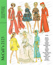 1960's Barbie Doll Clothes Sewing Pattern - McCalls
