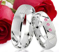 2 Eheringe Trauringe Verlobungsringe Partnerringe Gravur GRATIS TE8-1
