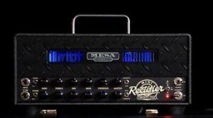 Mesa Boogie Mini Rectifier Black Grille Blue LED Custom Shop 25w Tube Amp Head