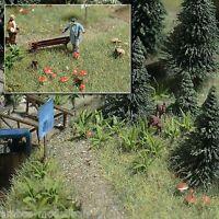 BUSCH 1203 H0, Farne und Pilze, Bausatz, Neu