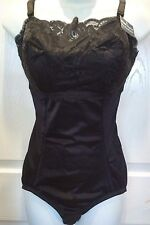 Instant Shaping Black Lace Front Body Shaper All in One Girdle Shapewear 48DDD