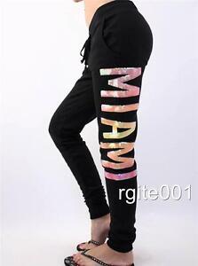 Victoria's Secret PINK Miami Fleece Ombre Sequin Bling Jogger Sweat Pants NWT