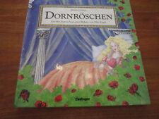 E205) antiguo pop-up-libro infantil la bella durmiente silke Ángel Esslinger Verlag EA 1998