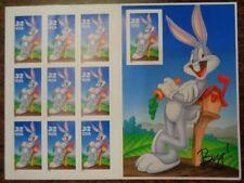 Bugs Bunny # 3137 Booklet sheet X 10 ea. pane Warner Bros. .32 cent stamp