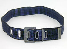 "EDC by ESPRIT WEBBING BELT IN Blue TONES, BLUE STITCHING Size 4 - 40"" Long"