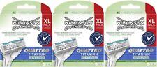 Wilkinson Quattro Titanium Sensitive Rasierklingen Aloe Vera 3x 5er Pack 15 Stk.
