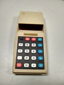 Vintage Commodore 776M Calculator Red LED 1970's Works