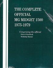 1975 - 1979 MG Midget 1500 Workshop Manual