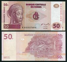 Congo DR 50 francs 2000.01.04. Tshokwe Mwana Pwo Mask P91A HdM UNC