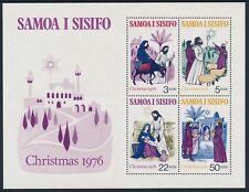 1976 SAMOA CHRISTMAS MINISHEET FINE MINT MNH