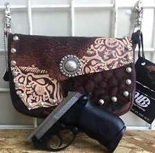 CCW Hip Bag Company Western Leather Gun Purse - Conceal Cary w/ Studs& Concho C4
