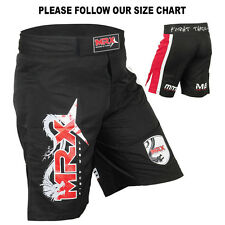 MMA Grappling Shorts UFC Cage Fight Kick Boxing Fighter Short Black / Red Medium