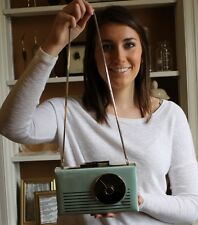 NWT Kate Spade Samira Radio Convertible Clutch Mint Green Minaudière Tune In