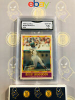 1990 Sportflics Rickey Henderson #208 - 10 GEM MT GMA Graded Baseball Card