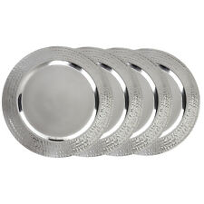 """4 Pack Stainless Steel 13"""" Charger Plate - Large Charger Plate Gold / Silver"""