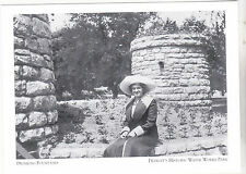 """*Postcard-""""Woman Rests Near Drinking Fountains"""" *Detroit's Water Works (#133)"""