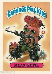 1986 TOPPS GARBAGE PAIL KIDS 1ST SERIES GIANT #17 MEAN GENE NM CONDITION GPK