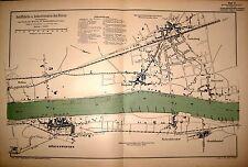 Rheinkarte 41 KÖNIGSWINTER, 1:10.000, gedruckt 1912, größer als DIN A 3 !!