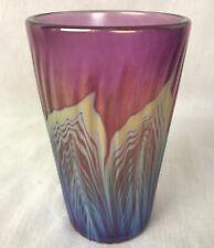 Lundberg Studios Art Glass Large Tumbler Beverage Glass or Vase
